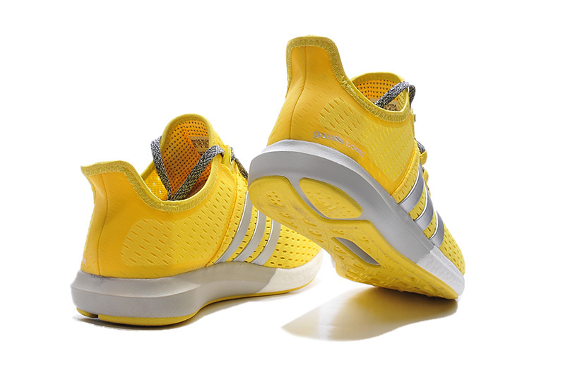Women\'s Running Climachill Ride Boost Shoes Yellow/Silver/Grey S77240