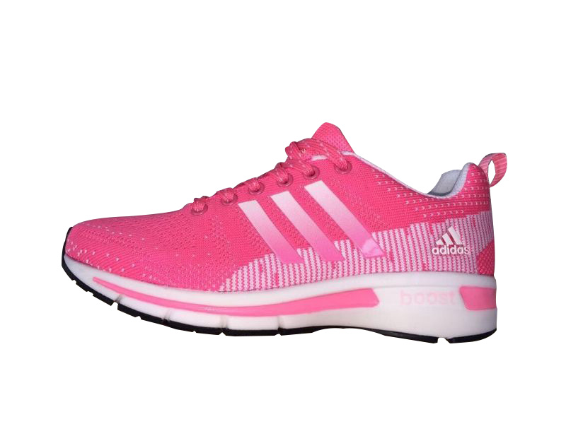 Women's Adidas Questar Flyknit Boost Running Shoes Pink/White
