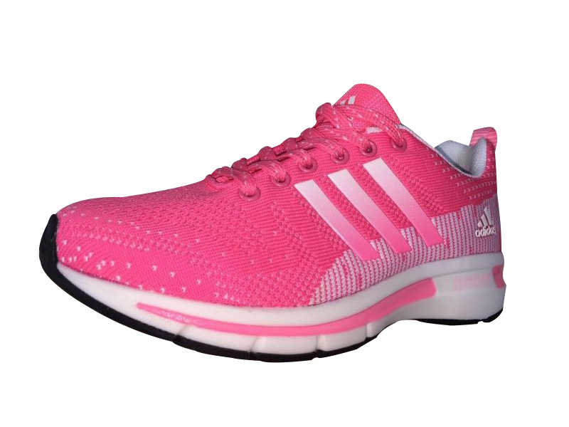 Women\'s Adidas Questar Flyknit Boost Running Shoes Pink/White