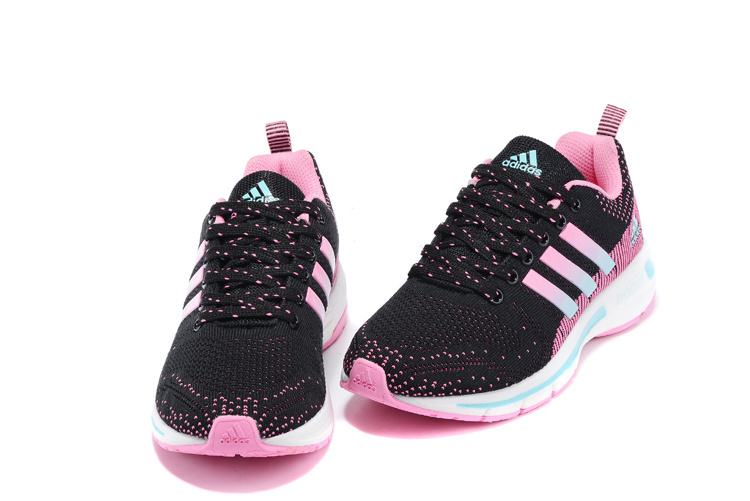 Women\'s Adidas Questar Flyknit Boost Running Shoes Pink/Core Black/Mint