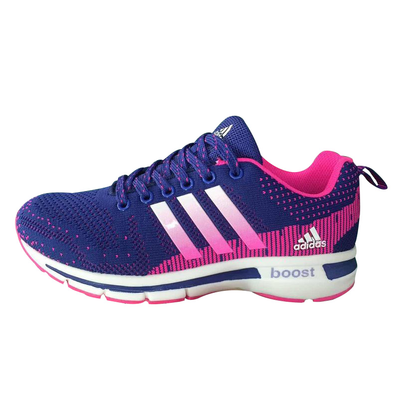 Women's Adidas Questar Flyknit Boost Running Shoes Violet/Fuchsia