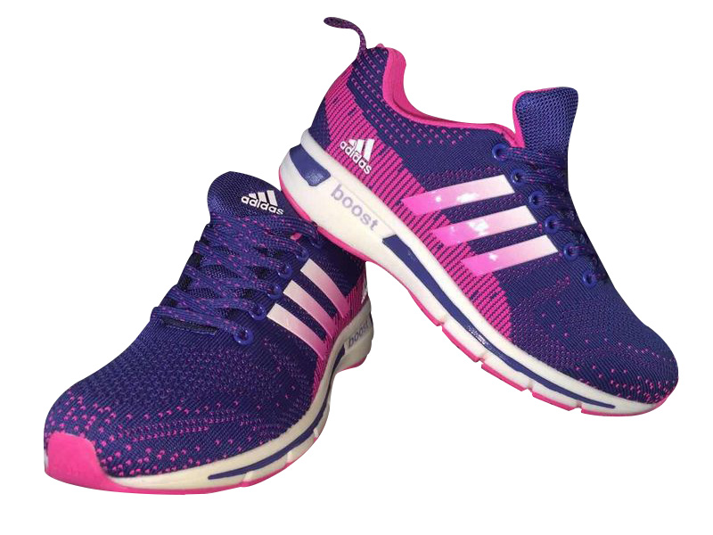 Women\'s Adidas Questar Flyknit Boost Running Shoes Violet/Fuchsia