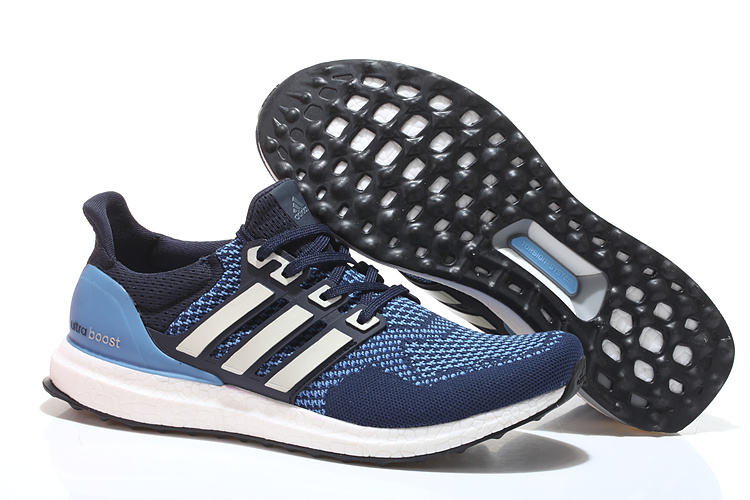 Men's/Women's Adidas Running Ultra Boost Shoes Navy/Jade/White