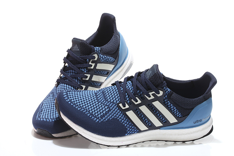 Men\'s/Women\'s Adidas Running Ultra Boost Shoes Navy/Jade/White