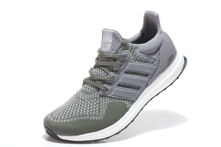 Men\'s/Women\'s Adidas Running Ultra Boost Shoes Army Green/Grey