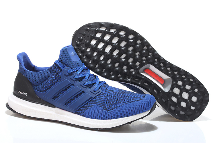 Men's/Women's Adidas Running Ultra Boost Shoes Collegiate Royal/Air Force Blue/Collegiate Navy B34048