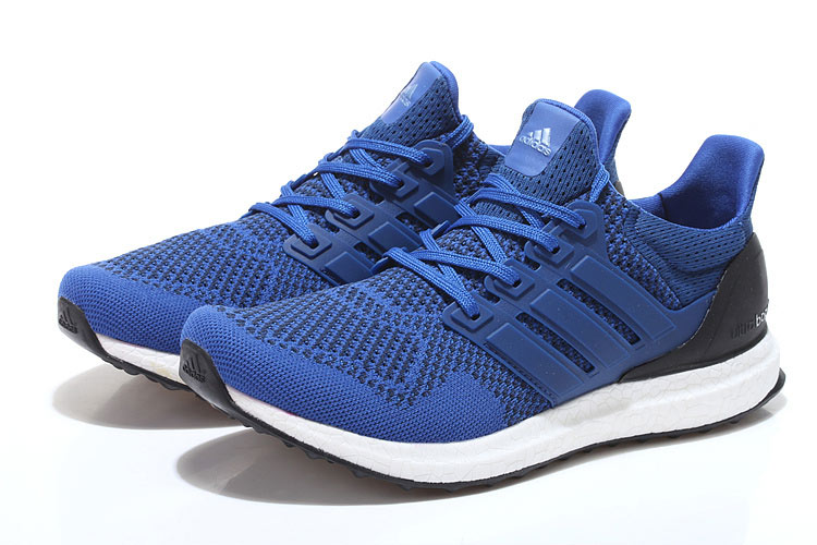 Men\'s/Women\'s Adidas Running Ultra Boost Shoes Collegiate Royal/Air Force Blue/Collegiate Navy B34048