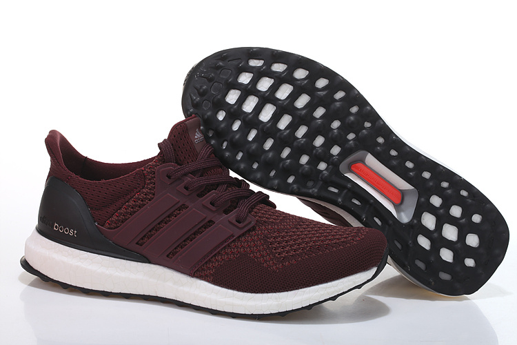 Men's/Women's Adidas Running Ultra Boost Shoes Burgundy/Black