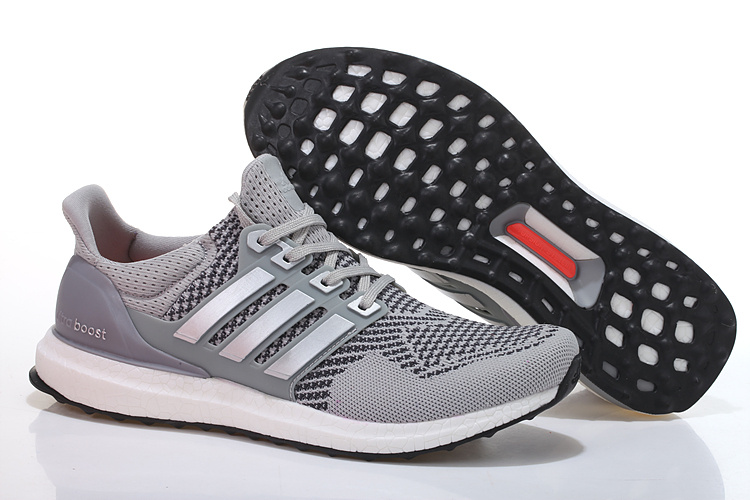 Men's/Women's Adidas Running Ultra Boost Shoes Grey/Sliver