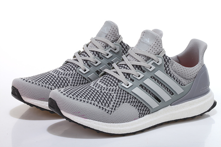 Men\'s/Women\'s Adidas Running Ultra Boost Shoes Grey/Sliver