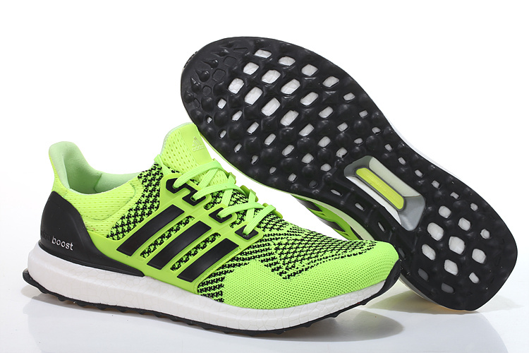 Men's/Women's Adidas Running Ultra Boost Shoes Fluorescent Green/Black