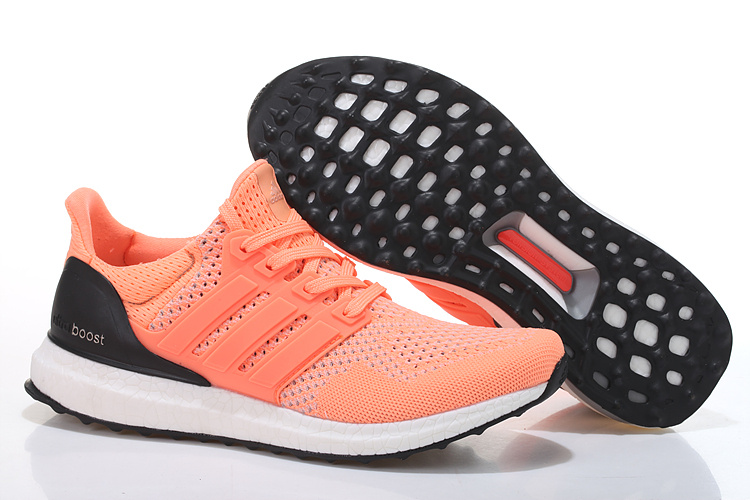 Men's/Women's Adidas Running Ultra Boost Shoes Hyper Orange/Black