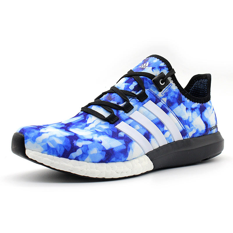 Men\'s Adidas Running Climachill Ride Boost GFX Shoes Ftwr White/Collegiate Royal/Core Black B44551