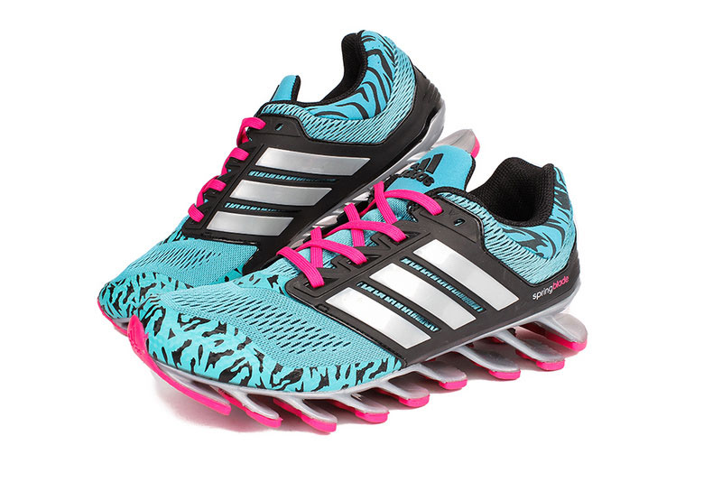 Men's/Women's Adidas Springblade 3.0 Running Shoes Mint/Black/Rose
