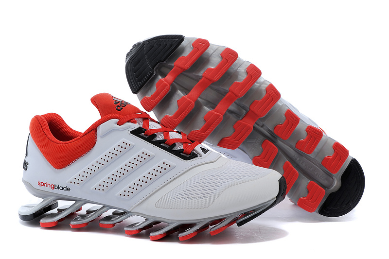 Men\'s Adidas Springblade Drive 2-0 Running Shoes White/Cardinal
