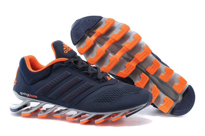Men's Adidas Springblade Drive 2-0 Running Shoes Navy Blue/Orange