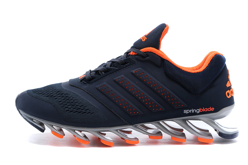 Men\'s Adidas Springblade Drive 2-0 Running Shoes Navy Blue/Orange