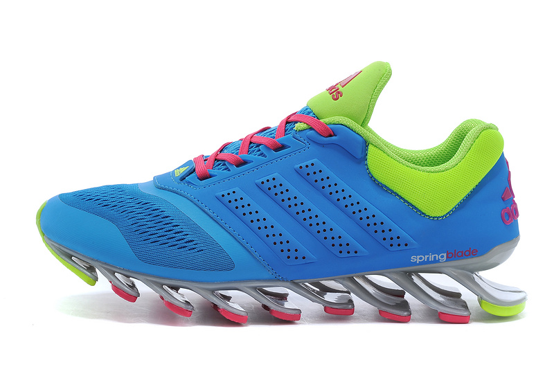 Men\'s Adidas Springblade Drive 2-0 Running Shoes Sky Blue/Fluorescent Green