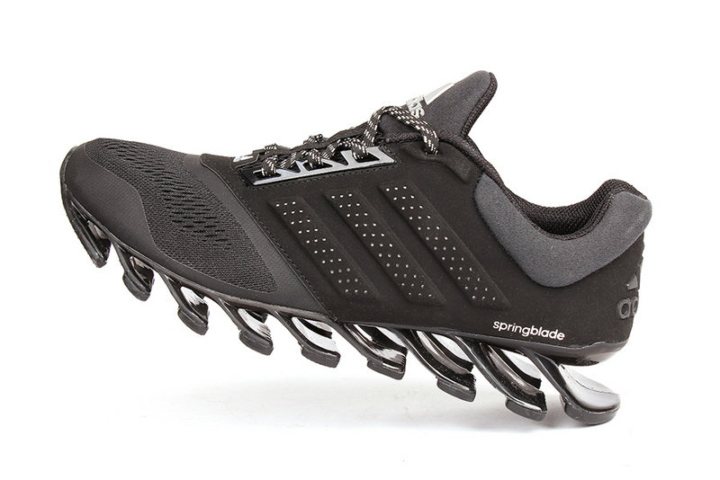 Men's Adidas Springblade Drive 2-0 Running Shoes Black/White