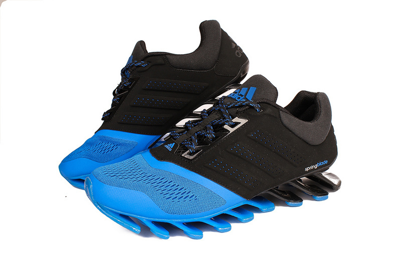 Men\'s Adidas Springblade 4 Running Shoes Black/Blue