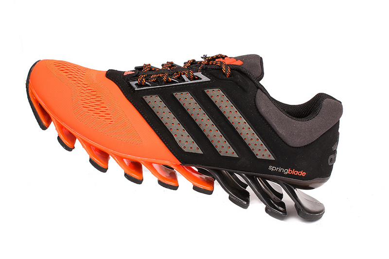 Men's Adidas Springblade 4 Running Shoes Orange/Black/Silver