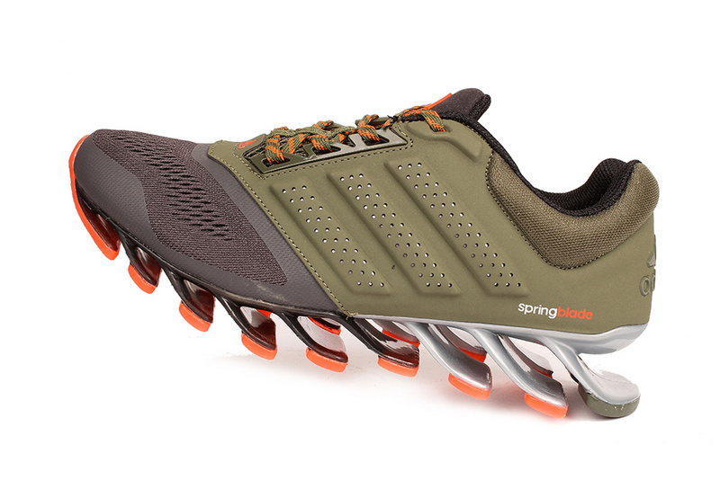 Men\'s Adidas Springblade 4 Running Shoes Army Green