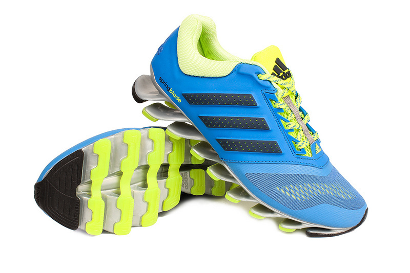 Men\'s Adidas Springblade 4 Running Shoes Sky Blue/Fluorescent