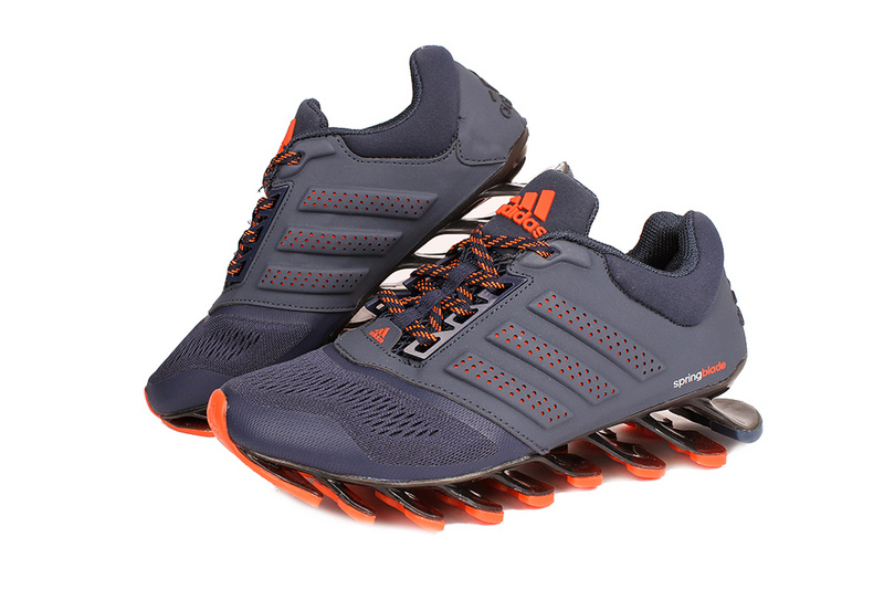 Men\'s Adidas Springblade 4 Running Shoes Dark Blue/Orange