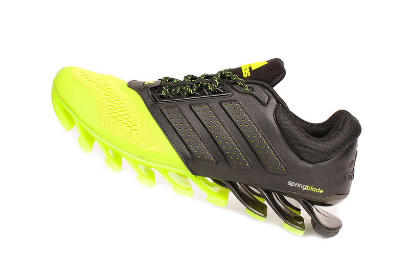 Men's Adidas Springblade 4 Running Shoes Black/Fluorescent Green