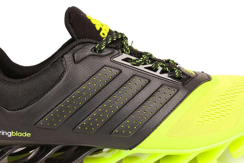 8b4f1a2dfe51 ... Men  s Adidas Springblade 4 Running Shoes Black Fluorescent Green ...