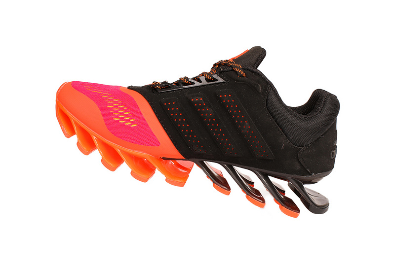 Men's Adidas Springblade 4 Running Shoes Black/Orange Red
