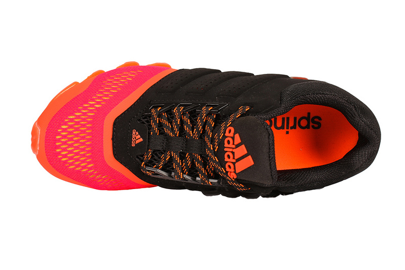Men\'s Adidas Springblade 4 Running Shoes Black/Orange Red
