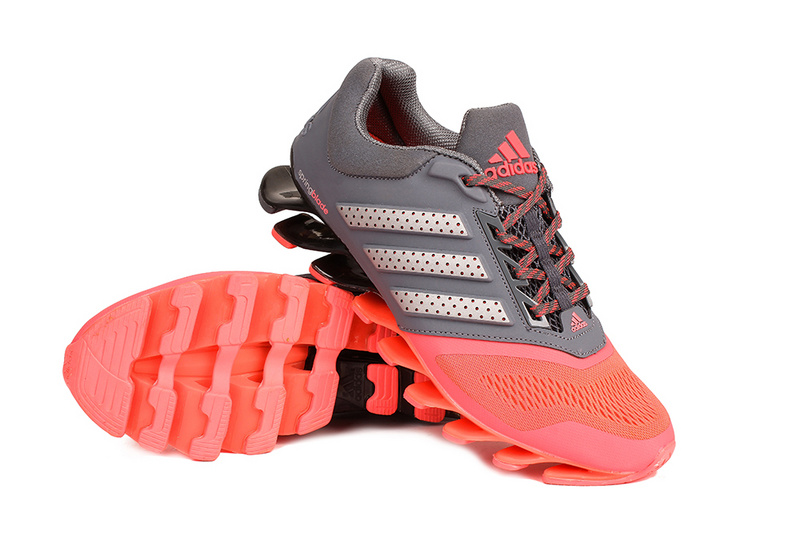 Men\'s/Women\'s Adidas Springblade 4 Running Shoes Grey/Pink