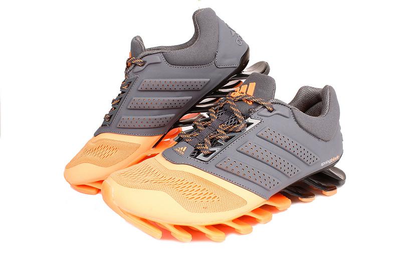 0427d719fa75 Men s Women s Adidas Springblade 4 Running Shoes Light Orange Grey ...