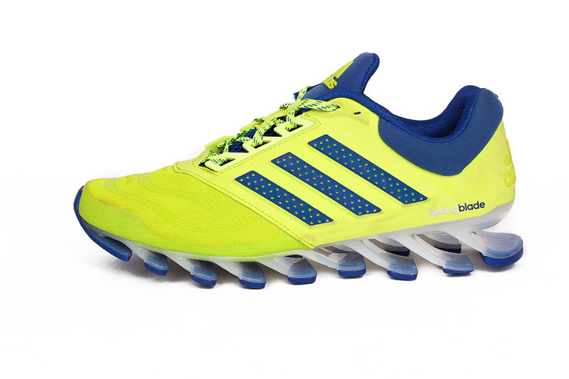 Men's Adidas Springblade 5 Running Shoes Yellow/Green