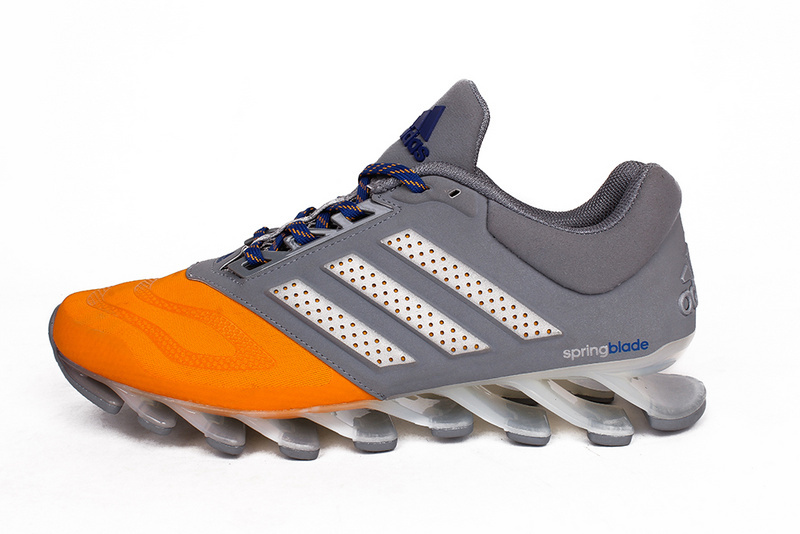 Men\'s Adidas Springblade 5 Running Shoes Gray/Orange