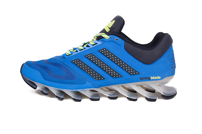 Men's Adidas Springblade 5 Running Shoes Blue/Yellow