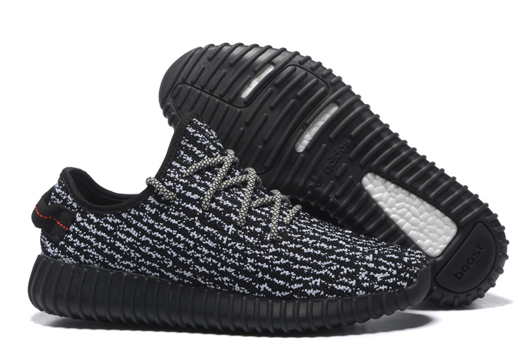Men's/Women's Adidas Yeezy Boost 350 Shoes Black/White