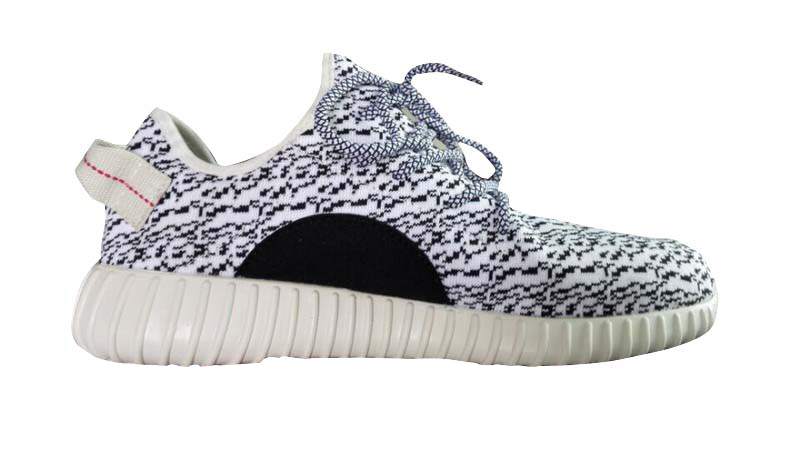 "Men\'s Adidas Yeezy Boost 350 ""Turtle Dove\"" Shoes White/Grey"