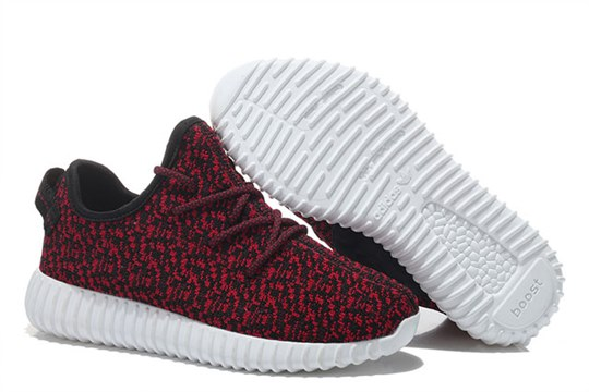 Men's/Women's Adidas Yeezy Boost 350 Shoes Wine Red Black