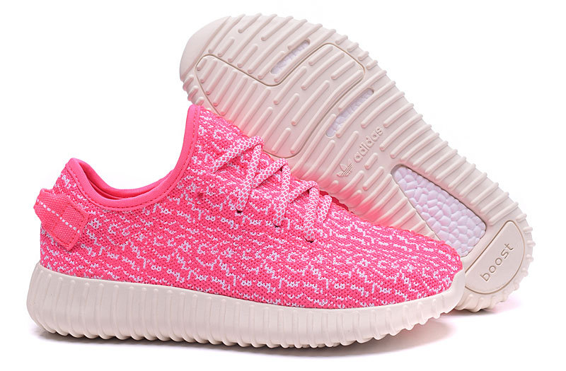 Women's Adidas Yeezy Boost 350 Shoes Pink/White