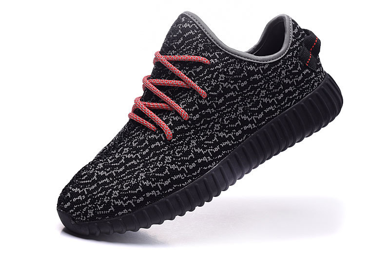 Men\'s Adidas Yeezy Boost 350 Shoes Black/Grey/Red
