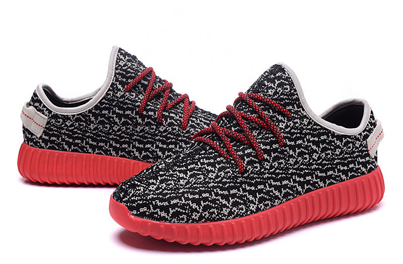 Men\'s Adidas Yeezy Boost 350 Shoes Black/Light Apricot/Red