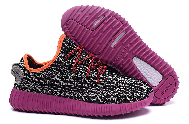 Women's Adidas Yeezy Boost 350 Shoes Black/Light Apricot/Purple
