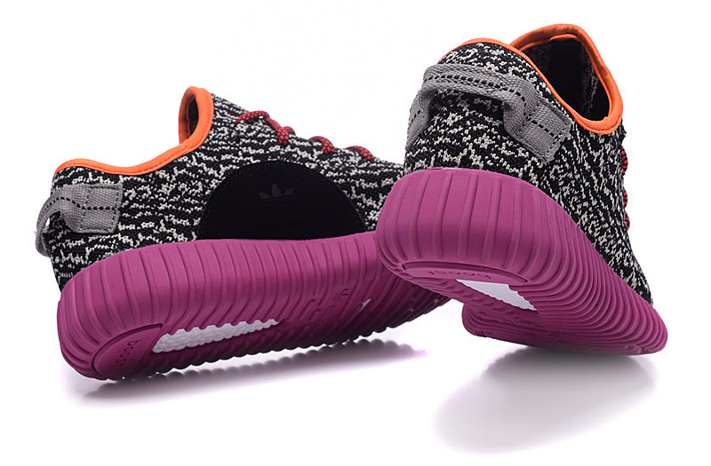 Women\'s Adidas Yeezy Boost 350 Shoes Black/Light Apricot/Purple