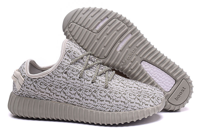 "Men's Adidas Yeezy Boost 350 ""MoonRock"" Shoes Off-white/Grey"