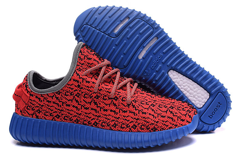 Women's Adidas Yeezy Boost 350 Shoes Red/Blue