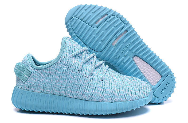 Women's Adidas Yeezy Boost 350 Shoes Light Blue