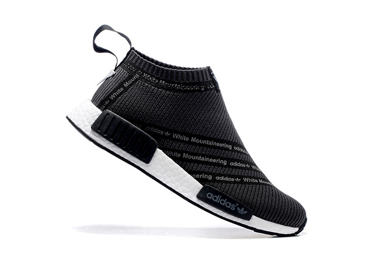 Men\'s Adidas Originals NMD High Top Sneaker Black/White