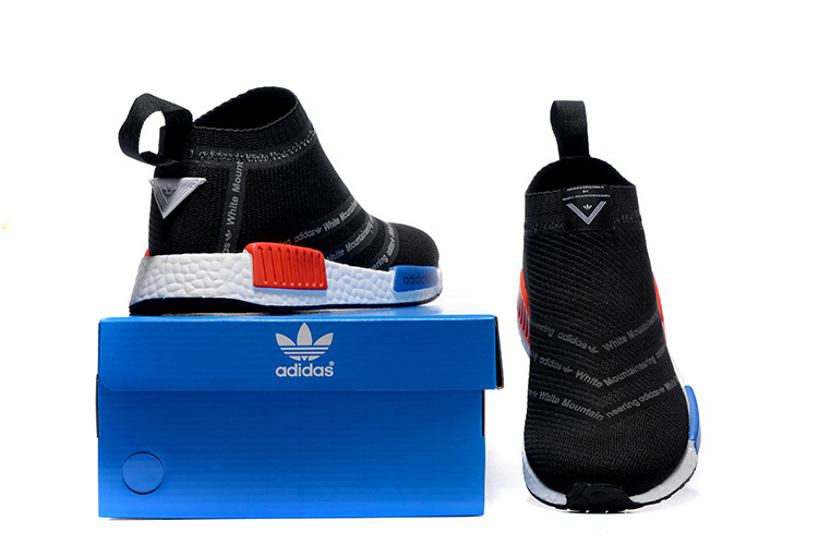 Men\'s Adidas Originals NMD High Top Sneaker Black/Red/Blue/White